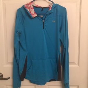 Blue women's Under Armour quarter zip - Medium